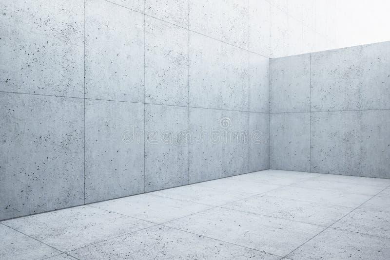 Interno concreto dello spazio dello spazio in bianco, 3d rendere royalty illustrazione gratis