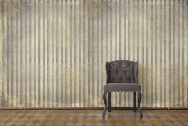 Interno d'annata elegante con la sedia fotografie stock