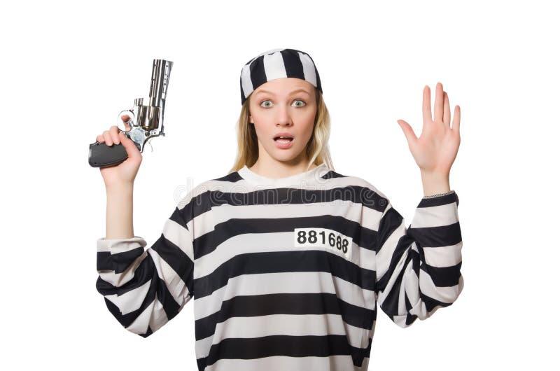 Download Interno De La Prisión Con El Arma Aislado Foto de archivo - Imagen de escaping, detención: 41913278