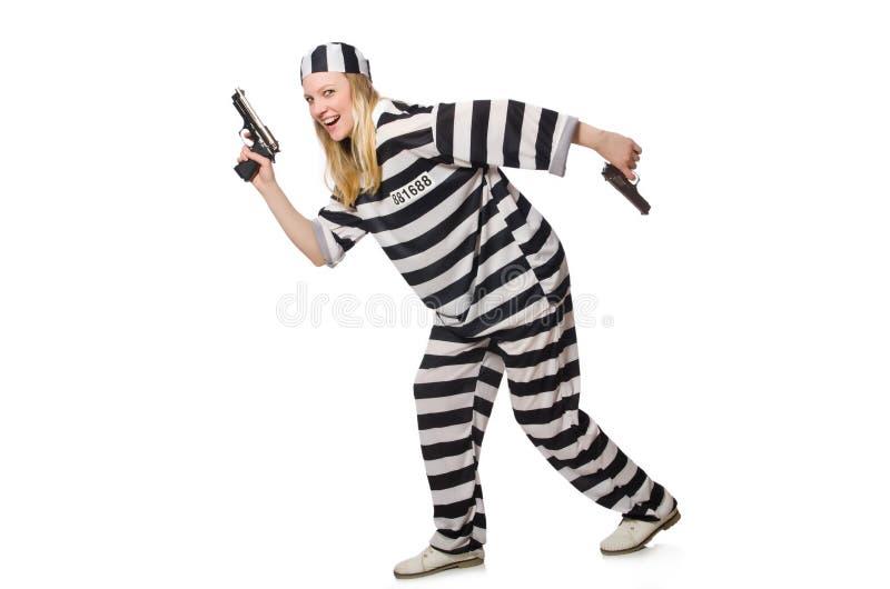 Download Interno De La Prisión Con El Arma Aislado Imagen de archivo - Imagen de condene, crimen: 41913341