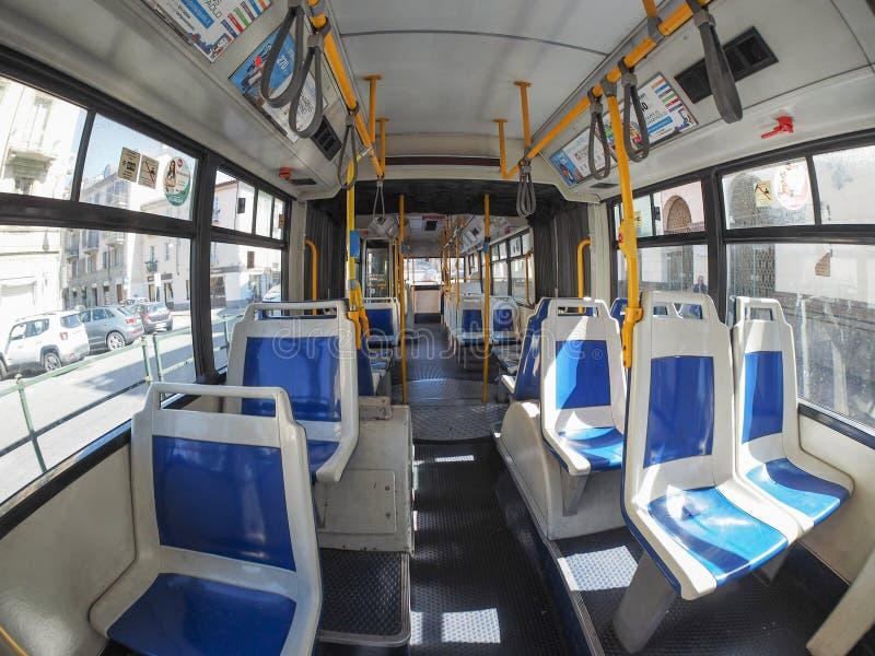 Interno Del Bus A Torino Immagine Stock Editoriale