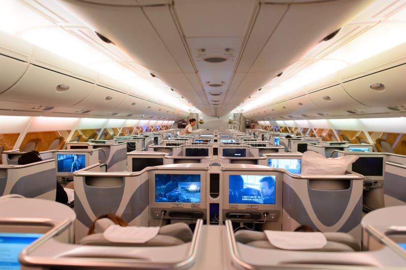 Interno del business class di airbus a380 degli emirati for Software free progettazione interni
