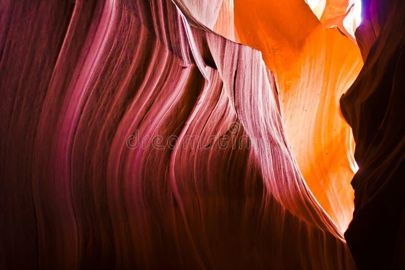 Interno del canyon della scanalatura dell'antilope, vicino alla pagina Arizona fotografia stock libera da diritti