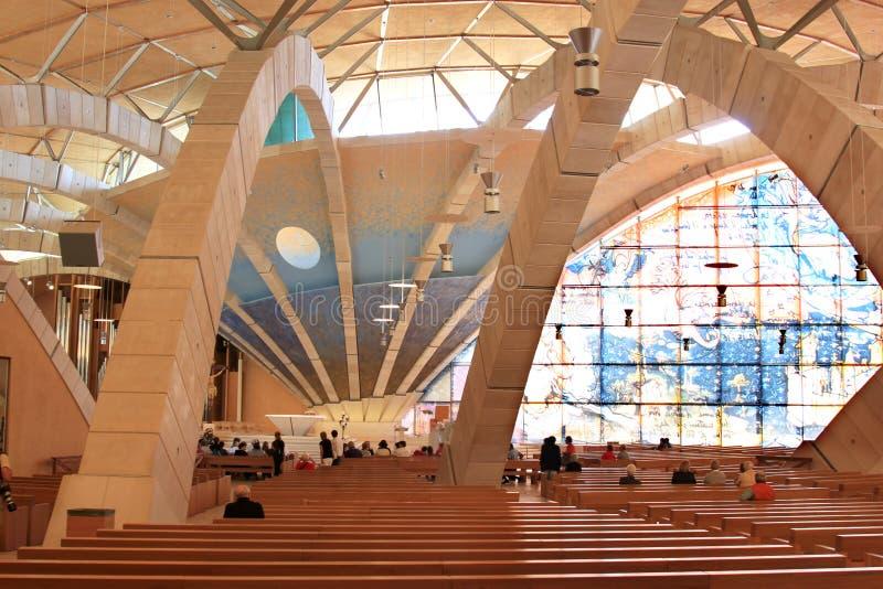Interno del cappellano Pio Pilgrimage Church, Italia fotografia stock