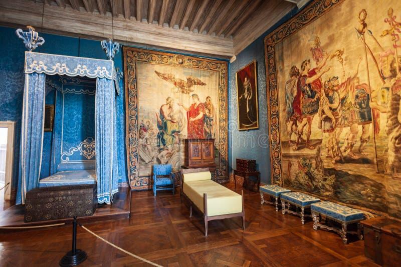 Interno del castello di Chateau de Chambord immagini stock