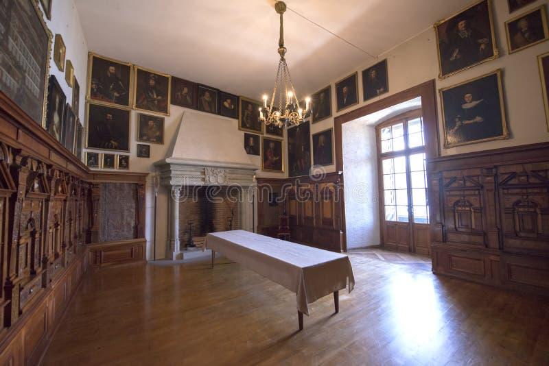 Interno del castello di Oberhofen, Svizzera immagini stock libere da diritti
