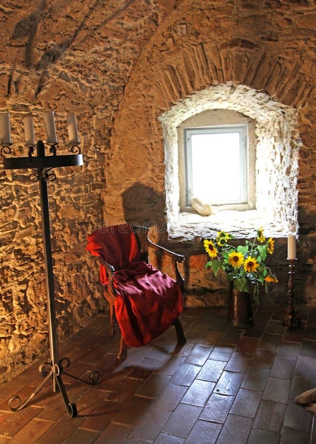 Interno del castello di Spis, Slovacchia fotografie stock