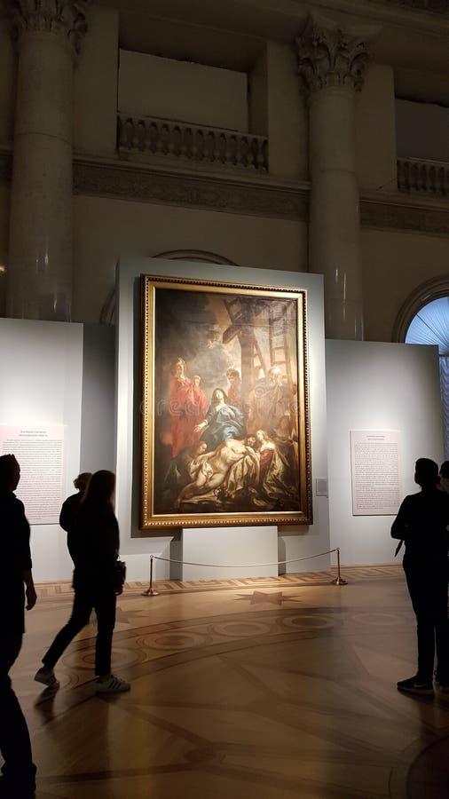 Interno del Museo dell'Ermitage fotografia stock libera da diritti