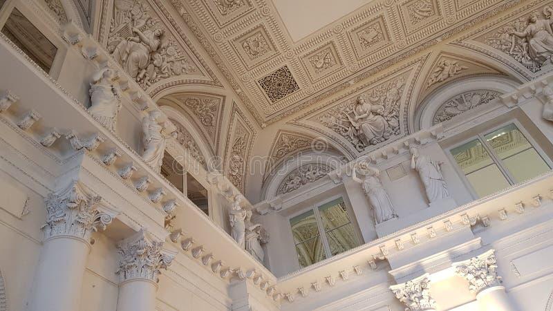 Interno del Museo dell'Ermitage immagini stock libere da diritti