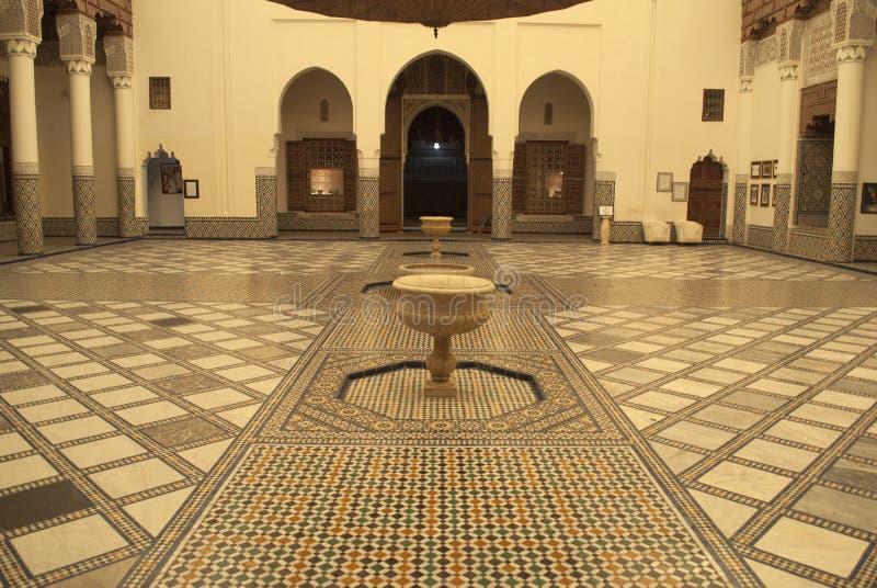 Interno del museo di Marrakesh, Marocco immagine stock