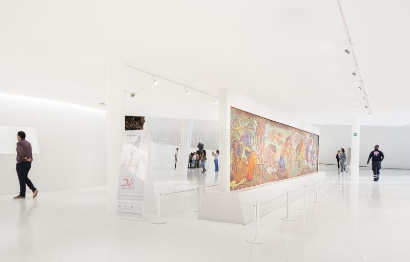 Interno del museo Museo Soumaya di Soumaya fotografia stock libera da diritti