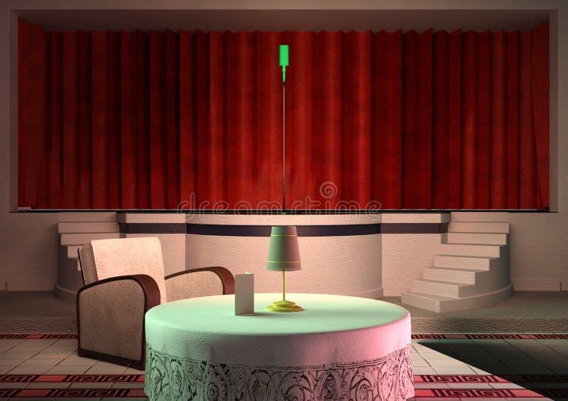 interno del night-club della rappresentazione 3D illustrazione di stock