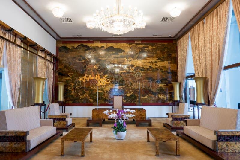 Interno del palazzo di indipendenza in Ho Chi Minh City, Vietnam immagini stock libere da diritti