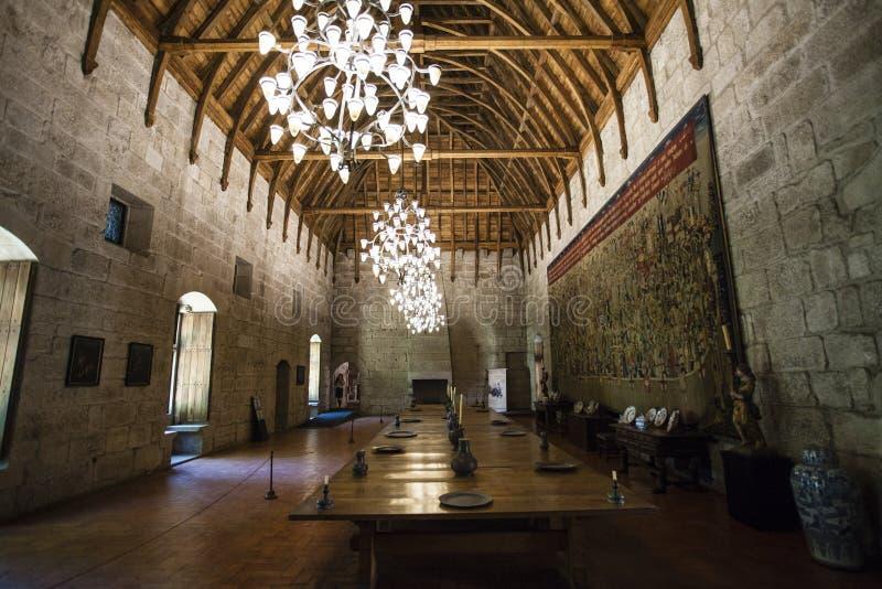 Interno del palazzo Guimaraes - nel Portogallo immagine stock libera da diritti