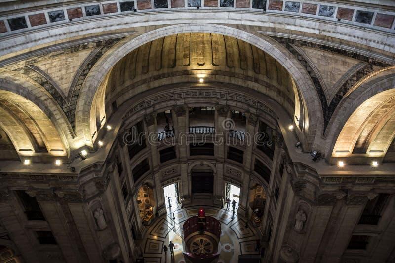 Interno del panteon nazionale a Lisbona fotografie stock libere da diritti