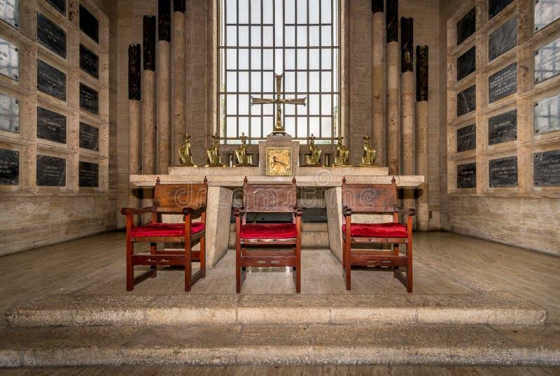 Interno del panteon nazionale in Santo Domingo, Repubblica dominicana fotografie stock libere da diritti