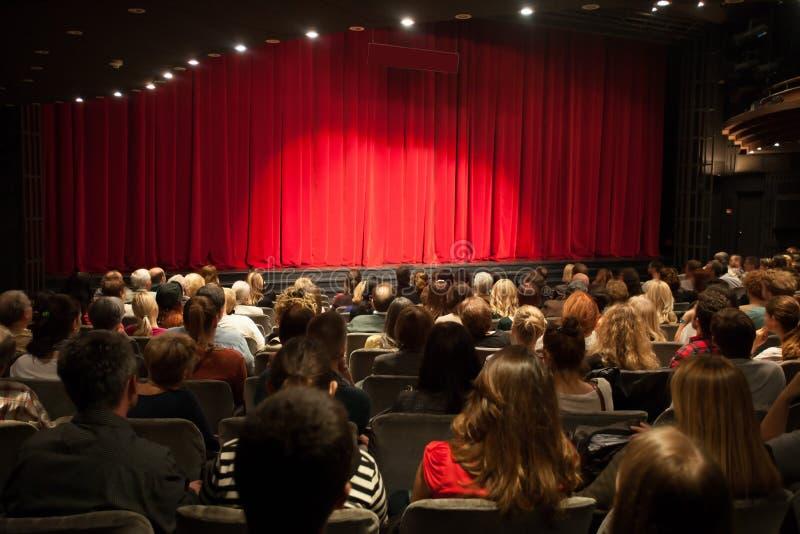 Interno del teatro immagini stock
