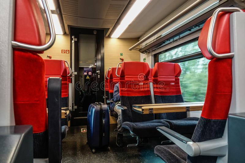 Interno del treno ad alta velocità immagini stock libere da diritti