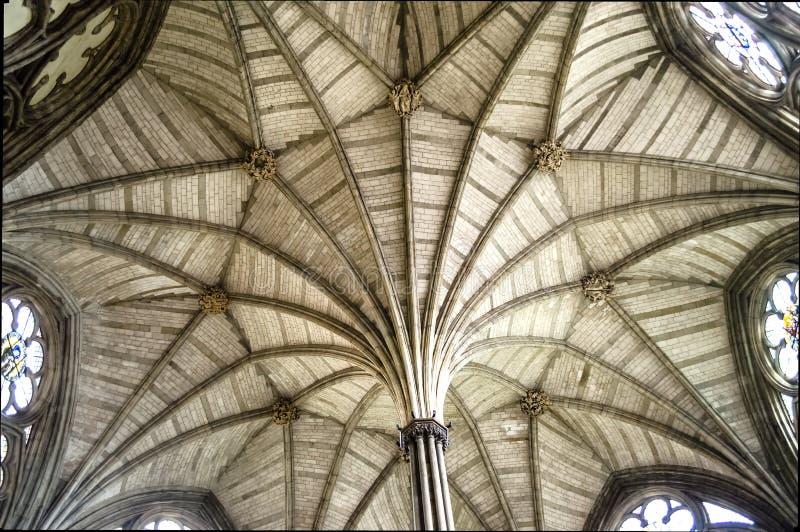 Interno dell'abbazia di Westminster, Londra immagine stock