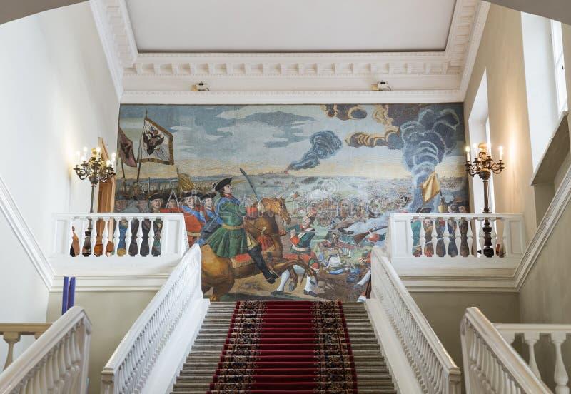 Interno dell'accademia delle scienze, St Petersburg fotografia stock