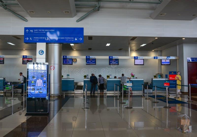 Interno dell'aeroporto di Dalat, Vietnam immagini stock