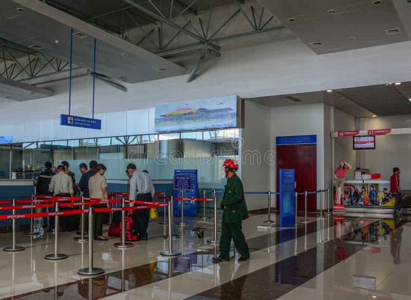 Interno dell'aeroporto di Dalat, Vietnam fotografia stock libera da diritti