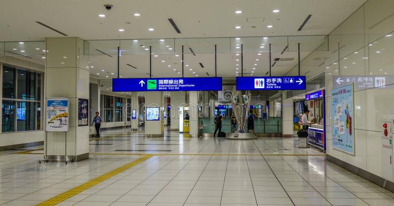Interno dell'aeroporto di Haneda a Tokyo, Giappone immagini stock libere da diritti