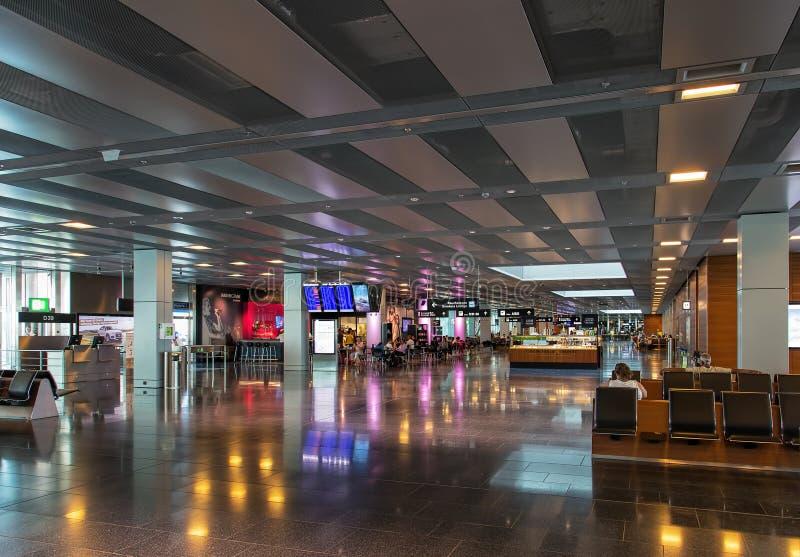 Interno dell'aeroporto di Zurigo fotografie stock libere da diritti
