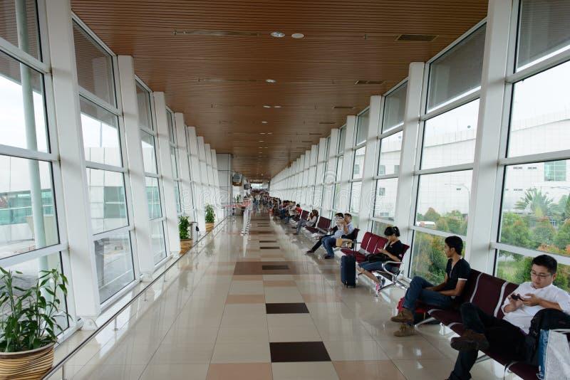 Interno dell'aeroporto internazionale di Kuching fotografia stock