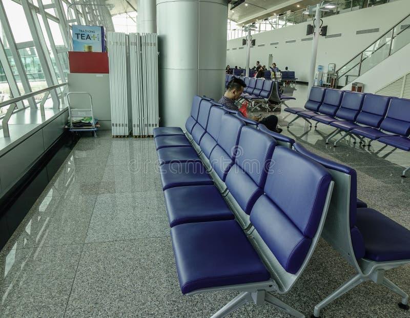 Interno dell'aeroporto fotografia stock