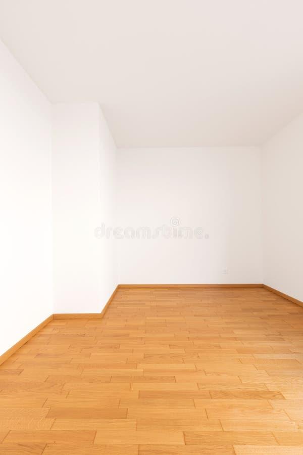 Interno dell'appartamento moderno, stanza vuota immagine stock