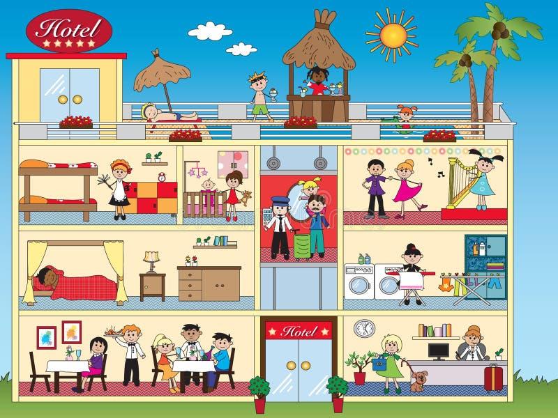 Interno dell'hotel illustrazione di stock
