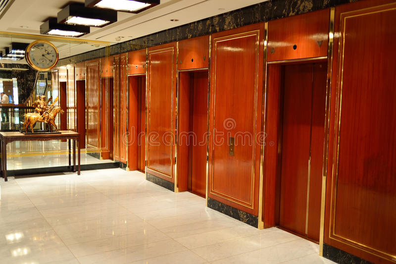 Interno dell'hotel di Mandarin Oriental fotografia stock libera da diritti