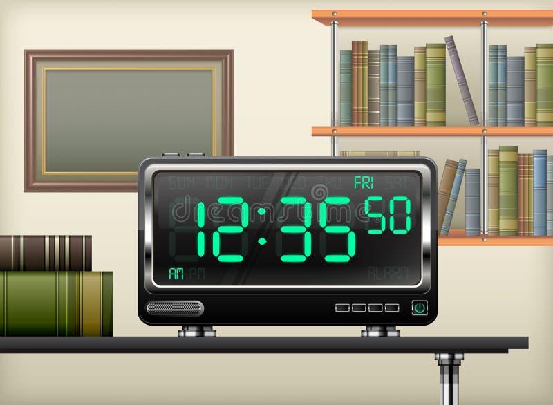 Interno dell'orologio di Digital illustrazione vettoriale