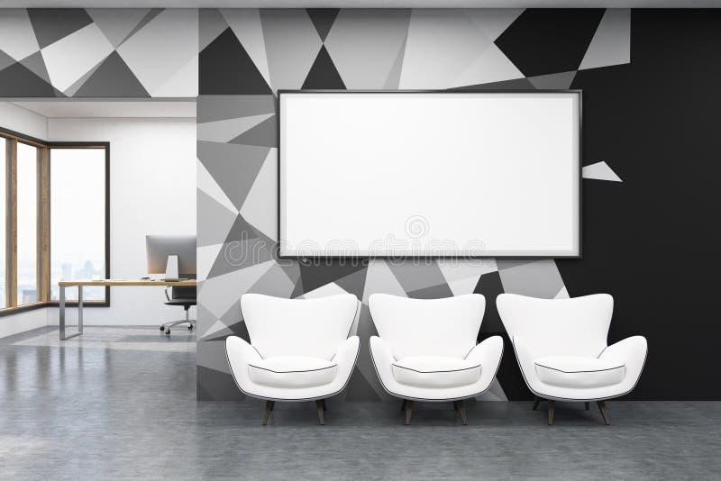 Sedie Ufficio Bianche : Interno dellufficio con le poltrone bianche illustrazione di stock