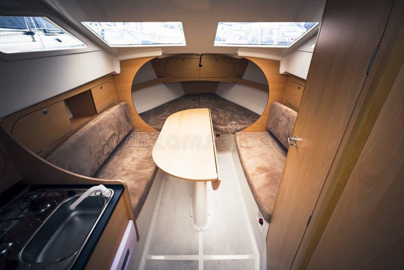 Interno dell'yacht fotografia stock