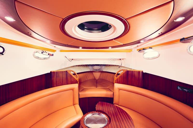 Interno dell'yacht fotografia stock libera da diritti