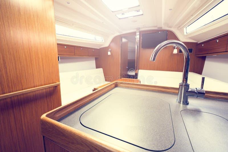 Interno dell'yacht immagini stock libere da diritti