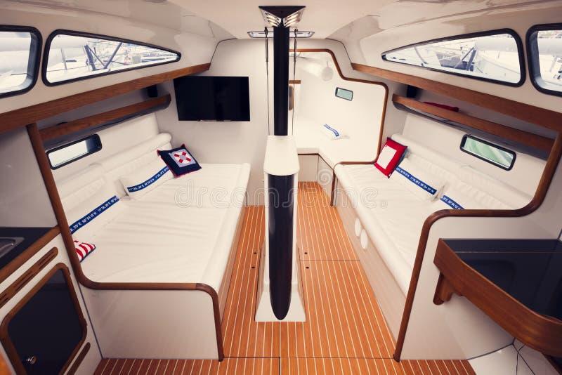 Interno dell'yacht fotografie stock
