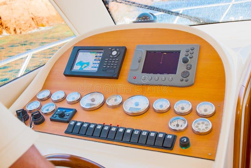 Interno della cabina dell'yacht fotografia stock