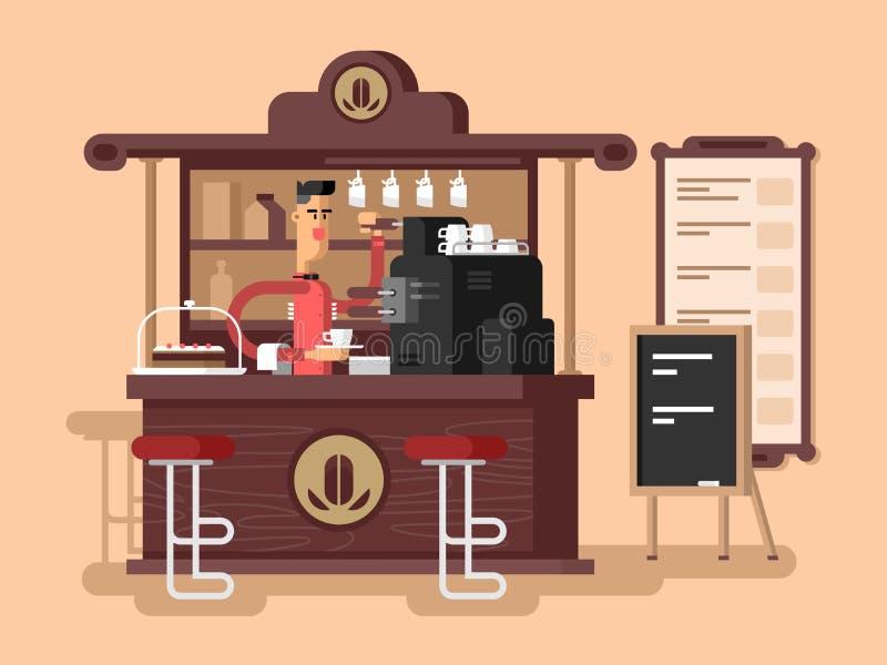 Interno della caffetteria illustrazione vettoriale