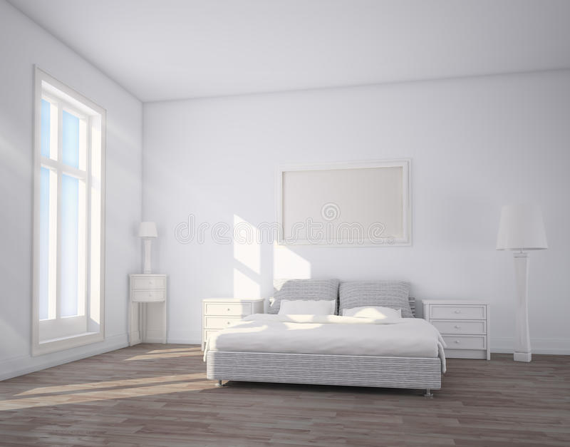 Interno della camera da letto illustrazione vettoriale