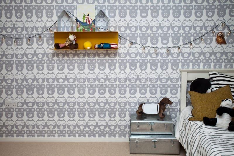 Interno della camera da letto dei bambini fotografie stock