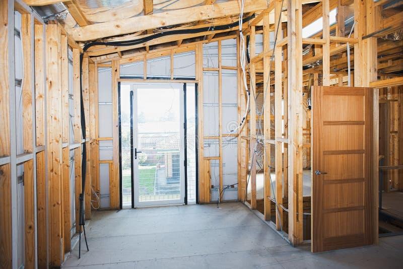 Interno della casa della costruzione fotografia stock libera da diritti