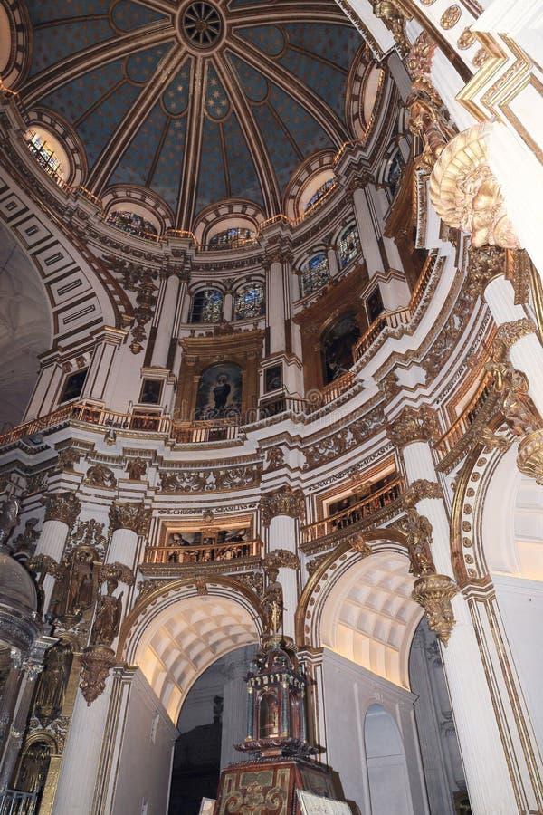 Interno della cattedrale Andalusia Granada Spagna fotografie stock