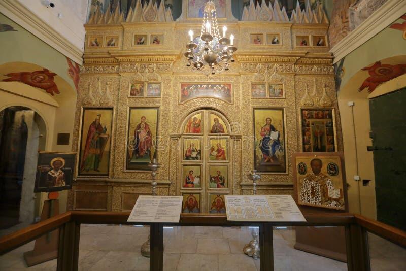 Interno della cattedrale del basilico della st Mosca, Russia fotografia stock libera da diritti