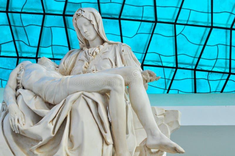 Interno della cattedrale di Brasilia fotografia stock