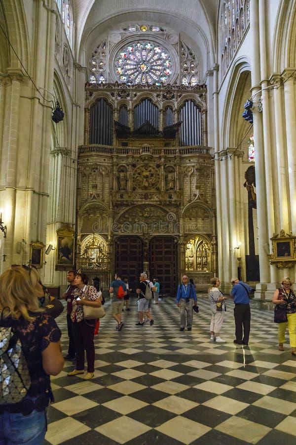 Interno della cattedrale di Toledo fotografia stock libera da diritti