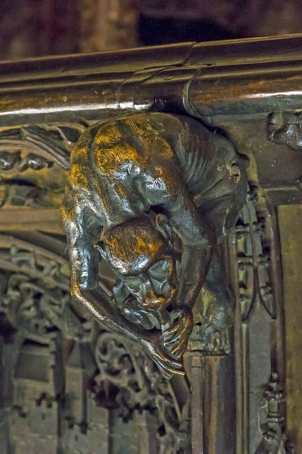 Interno della cattedrale di Toledo, Spagna immagine stock libera da diritti