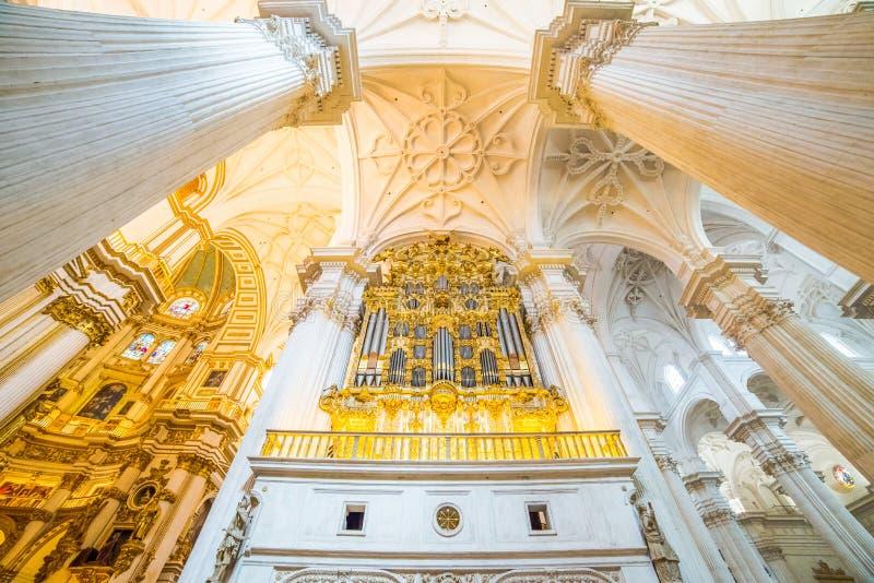 Interno della cattedrale, Granada, Spagna fotografie stock libere da diritti